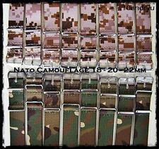 Cinturini NATO G10 Camouflage 18-20-22-24mm. Nylon Camouflage Straps ENTRATE!