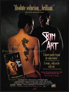 SKIN ART__Original 1994 Trade print AD promo__NORA ARIFFIN_JAKE WEBER_tattoo_ink