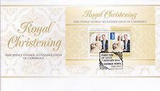 2014 Royal Christening HRH Prince George of Cambridge (Mini Sheet) FDC