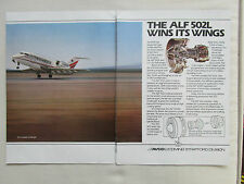 4/1980 PUB AVCO LYCOMING ALF 502L TURBOFAN ENGINE CANADAIR CHALLENGER AD