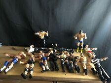 2000s WWE WWF JAKKS WRESTLING LOT OF 30 Wrestler Figures+SWISS ARMY LAPTOP BAG