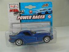 Modellino macchina MAISTO POWER RACER Fresh Metal DODGE VIPER GTS Blu R94