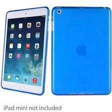New Verizon Teal Blue Apple iPad Mini 1 2 3 High Gloss Silicone Gel Case Cover