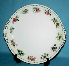 ROYAL ALBERT ' FLOWER OF THE MONTH ' LARGE EARED CAKE PLATE