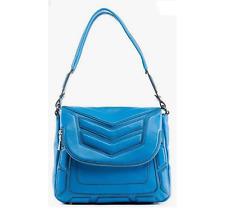 Aimee Kestenberg Leather Flap Front Shoulder Bag - Tahiti Blue NEW NWT Purse