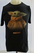 Star Wars The Mandalorian Baby Yoda Graphic Black T-Shirt Youth Size PRE-OWNED