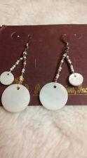 Premier Designs Jewelry LUMINOUS Gen. Shells/Glass Beads Fishhook Earrings NWT