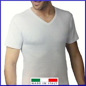 Maglia intimo uomo in caldo cotone felpato intima termica maglietta scollo a v