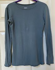 Mossimo 100% cotton long sleeve knit tissue tee, teal s
