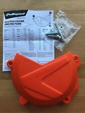 POLISPORT CLUTCH COVER PROTECTOR GUARD FITS KTM EXCF EXC-F 350  2017-2018 ORANGE