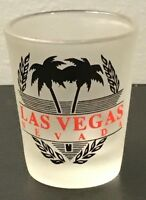 Frosted Las Vegas Nevada Shot Glass
