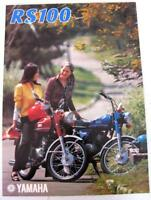 YAMAHA RS100 Motorcycle Sales Brochure 1974/75 #64011-100300-00