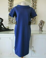 MARC CAIN Royal Blue & Black Stretch Panel Dress N5 16 BNWT €199.90