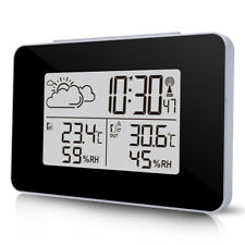 Digital LCD Wireless Weather Station Sensor Thermometer Office Outdoor Indoor UK