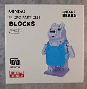 MINISO We Bare Bears Building Blocks 3D Figure Ice Bear 440 pieces New #1017