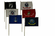 "12x18 12""x18"" Wholesale Lot of 6 U.S. Military w/ Pow Mia POWMIA Stick Flag"