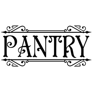 PANTRY Primitive Country Farmhouse Vinyl Design Wall Decal Sticker Home