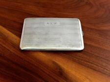 Ronson Sterling Silver Cigarette Case in Elegant Striped Design