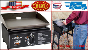 """17"""" inch Tabletop Griddle Outdoor Camping Adventure Ready Portable Burner Grill"""
