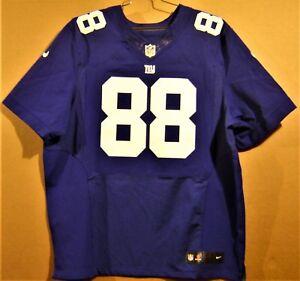 NEW YORK GIANTS HAKEEM NICKS BLUE #88 AUTHENTIC NFL Size 52 ELITE JERSEY