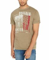 Buffalo David Bitton Mens T-Shirt Brown Size 2XL Star USA Flag Graphic Tee 098