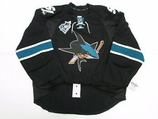SAN JOSE SHARKS THIRD 25th ANNIVERSARY TEAM ISSUED REEBOK EDGE 2.0 JERSEY SZ 58+
