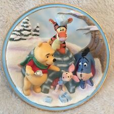 Friends Are Shelter On The Coldest Days 3D Plate  A Wonderlit Winter Winnie Pooh