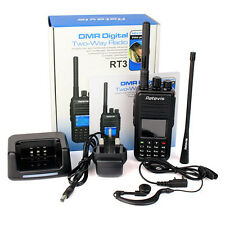 Digital Walkie Talkie Portable Two Way Radio Retevis RT3 DMR UHF 1000CH Scan VOX