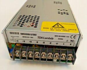 TDK-LAMBDA SWS300A-5/C02 PS Input: 100-240VAC 50/60Hz 4.4A, Out: 5VDC