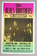 The Blues Brothers Concert Tour Poster 1980 Chateau Inn Buffalo New York