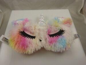 Unicorn horn face  beauty eye mask sleep mask light out eyes soft rainbow