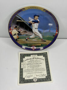 "Ted Williams ""Last Time At Bat"" 1995 Bradford Exchange Collectors Plate #12303"