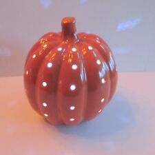 Ceramic LED Lighted Pumpkin Batteries included 8.5 in. tall 24 in. circumference