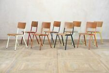 More details for industrial stacking chair metal restaurant chair cafe dining room chair wood