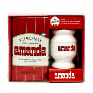 Amanda Yerba Mate Tea Kit   500g yerba mate, cup, straw - Free Postage