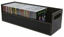 Stock Your Home Stacking CD Tray and Media Storage Box , Holds 40 CDs, Brown