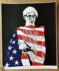 Pure Evil- Star Spangled Warhol Signed & # /50 Ltd Ed. Print