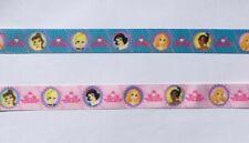 25mm wide Princess Ribbon Grosgrain 2 Meters for 99p Blue or Pink UK Seller
