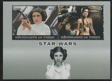 7382  CHAD 2018 STAR WARS perf  sheetlet containing 2 values unmounted mint