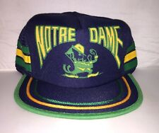 Vtg Notre Dame Fighting Irish Snapback hat cap Ncaa College Football 80s Trucker