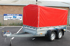 "NEW Car trailer SOLIDUS twin axle 8'7""x4'1"" 750kg+ TOP COVER 110cm"