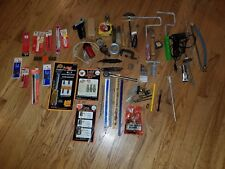 Vintage Tool Lot glue gun Screwdrivers, Wrenches, socket adapter ,drill bits