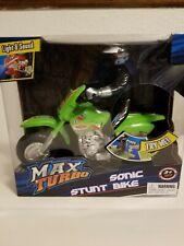 Max Turbo Sonic Stunt Bike green #11 Plays Music And Lights up.