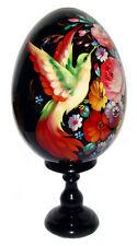 Oiseau de feu - Oeuf décoratif russe en bois peint main, cadeau original Paques