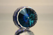 Swarovski Crystal Barrel Granate Revolution Paperweight Bermuda Blue 7453 Nr 60