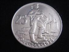 """MDS TSCHECHOSLOWAKEI 25 KRONEN 1954 """"10. JAHRESTAG SLOWAK. AUSTAND"""", SILBER  #43"""