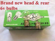 Yamaha Headlight Rear Bulbs 6v YT125 YT175 Tri Moto 3 Wheeler ATC 70