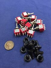 10 pieces RED Waterproof Momentary Mini Toggle Switch ON OFF ON 6 pin 1/4 A5