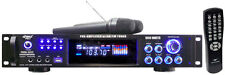 Pyle PWMA1003T 1000W Hybrid Pre-Amplifier W/AM-FM Tuner/USB Wireless Mic
