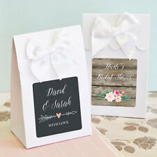 144 Personalized Rustic Floral Garden Wedding Favor Bags Candy Buffet Boxes Lot